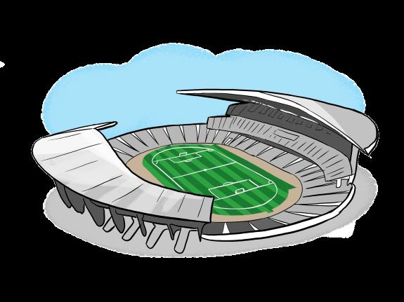 нарисовать стадион в картинках поднимает острые проблемы